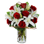 Bouquet funebre lilium e rose ...