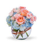 Bouquet ortensie blu e rose BF26