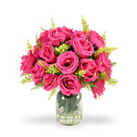 Bouquet di rose fucsia RF09