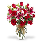 Bouquet di rose e lilium BF21